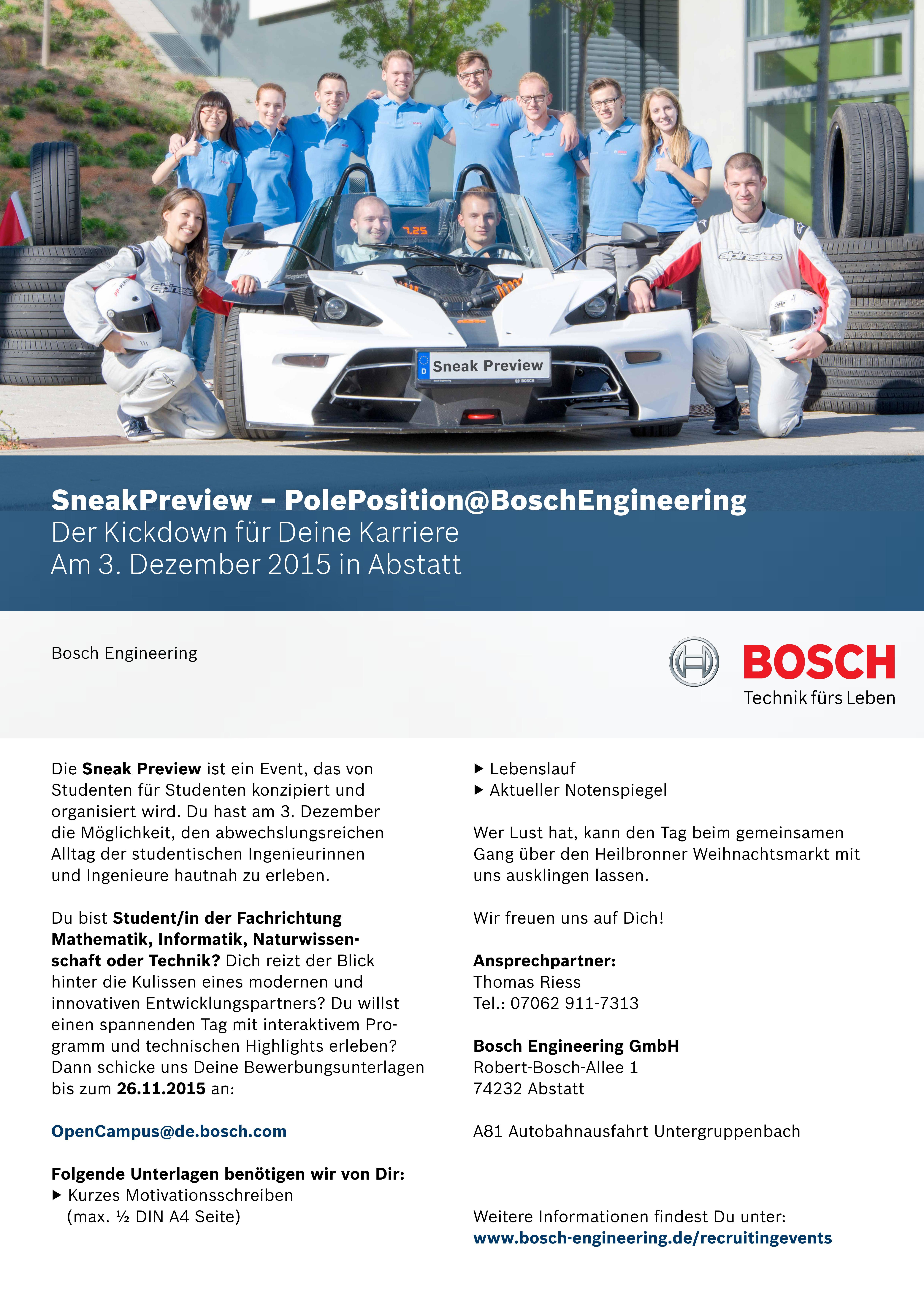 Sneak Previw - Bosch Engineering