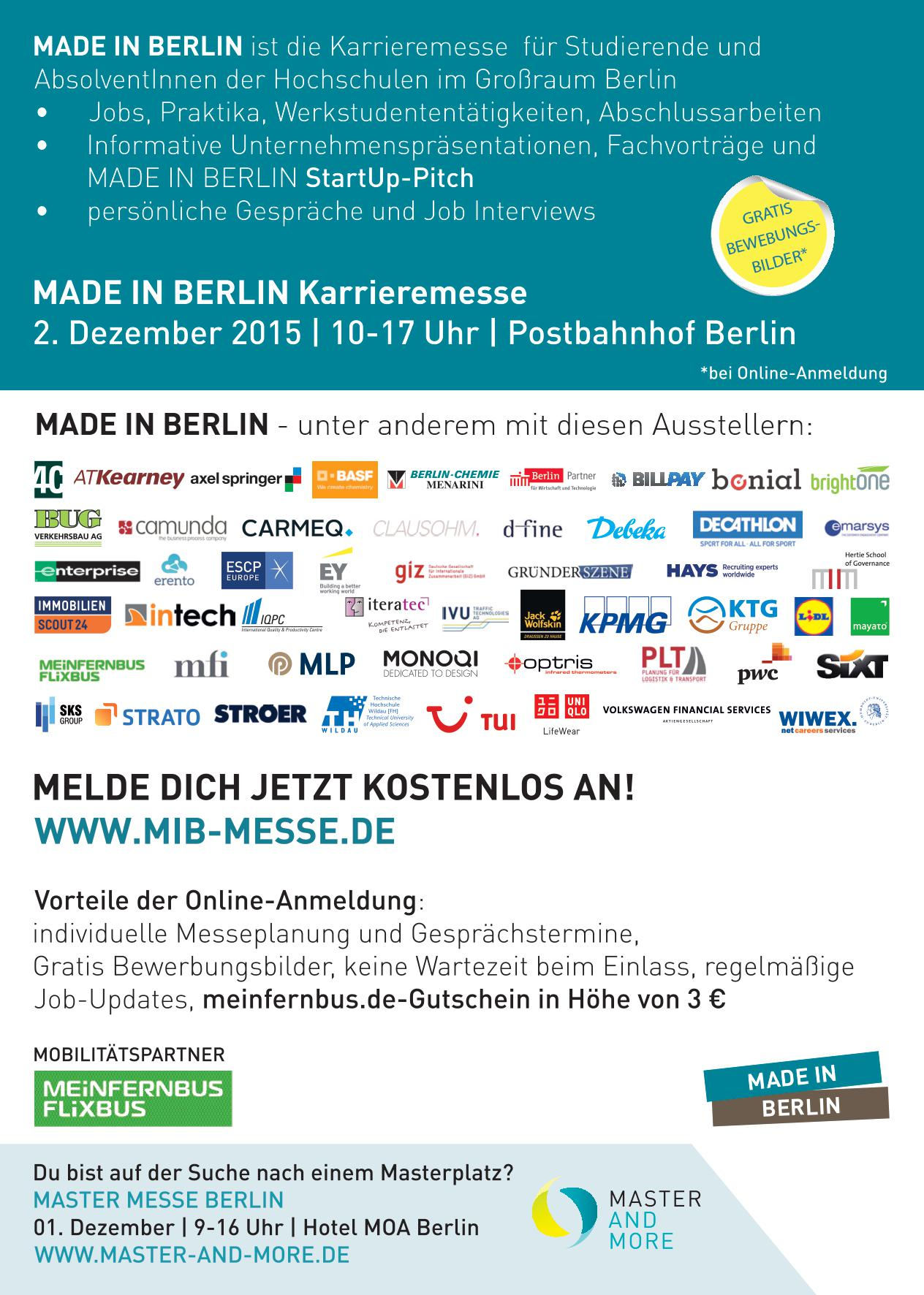 Flyer Teil 2 - Messe Berlin